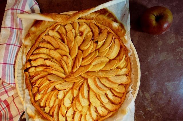 tarte aux pommes huile cannelle